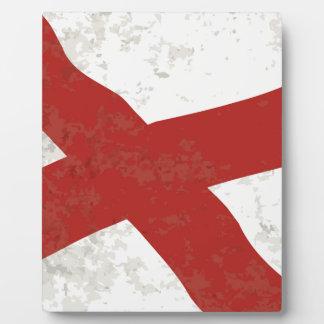 Alabama Sate Flag Grunge Plaque