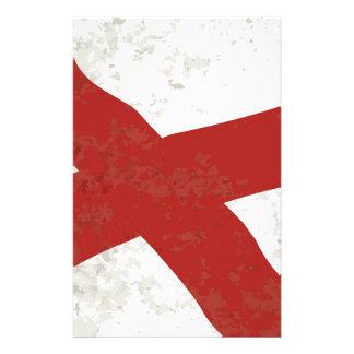 Alabama Sate Flag Grunge Stationery