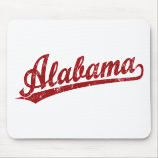 Alabama script logo in red mouse pad