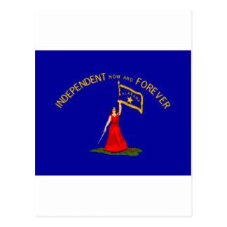 alabama secession flag postcard