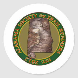 Alabama Society of Trail Runners Classic Round Sticker