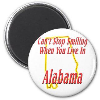 Alabama - sonriendo imán redondo 5 cm