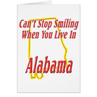 Alabama - sonriendo felicitacion