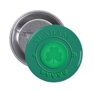 Alabama St Patrick's Irish Shamrock Green Button