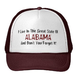 Alabama State Baseball Cap Trucker Hat