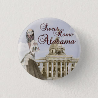 Alabama State Capital Building Button