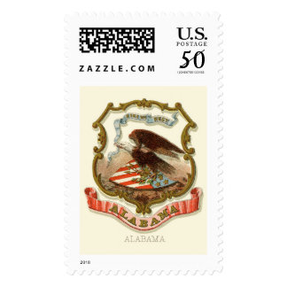 Alabama state coat of arms postage