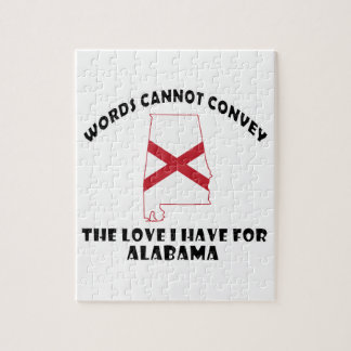 Alabama state flag and map designs jigsaw puzzle