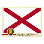 Alabama State Flag and Seal Postcard