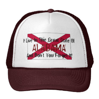 Alabama State Flag Baseball Cap Trucker Hat