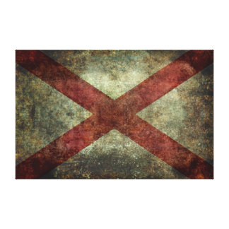 Alabama state flag canvas print