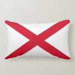 Alabama State Flag Design Decor Throw Pillow