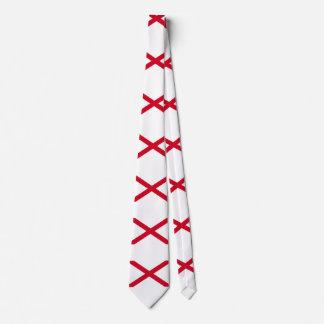 Alabama State Flag Design Neck Tie