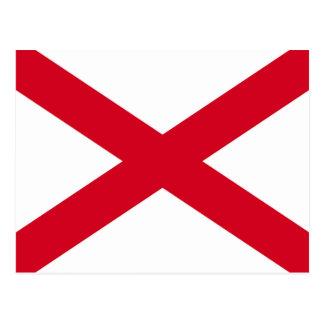 Alabama State Flag Design Postcard