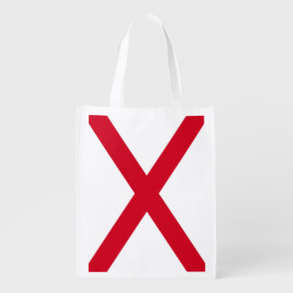 Alabama State Flag Design Reusable Grocery Bag