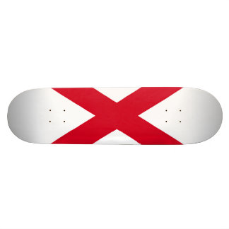 Alabama State Flag Design Skateboard Deck