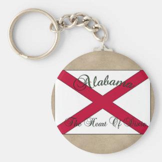 Alabama State Flag Key Chain