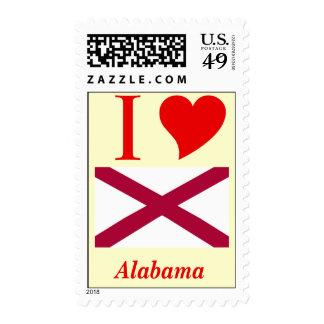 Alabama State Flag Postage Stamp