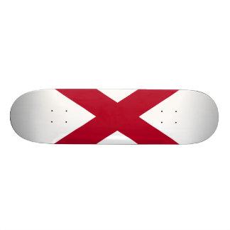 Alabama State Flag Skateboard