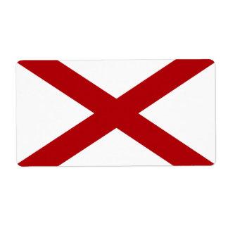 Alabama State Flag USA Shipping Label Large