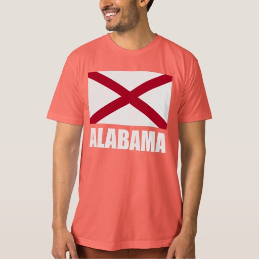 Alabama state flag white text t shirt zazzle for T shirt printing mobile al