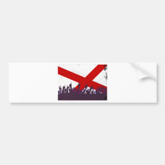 Alabama State Flag with Audience Bumper Sticker