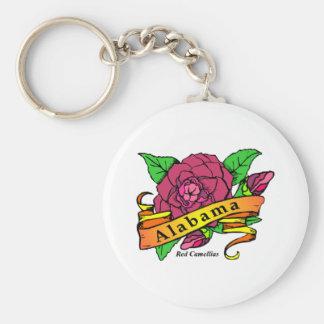 Alabama State Flower Basic Round Button Keychain