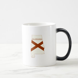 Alabama State Map and Flag Coffee Mugs