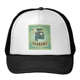 Alabama State Map – Green Trucker Hat
