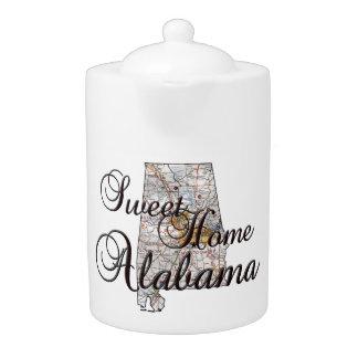 Alabama State Map Teapot