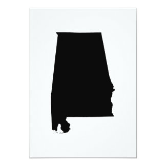 Alabama State Outline Card