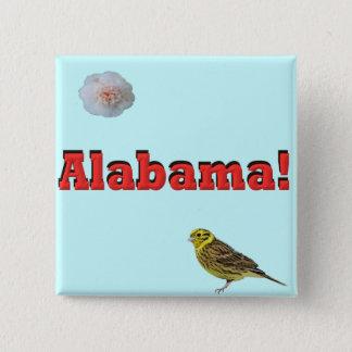 Alabama State Pinback Button