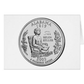 Alabama State Quarter Greeting Card