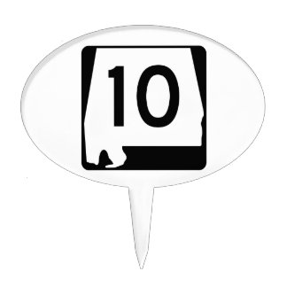 Alabama State Route 10 Cake Topper
