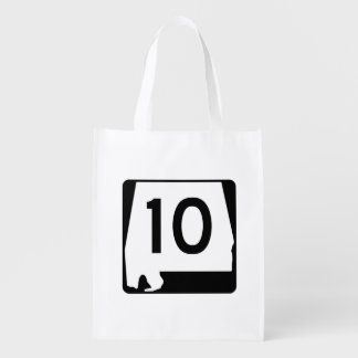 Alabama State Route 10 Reusable Grocery Bag