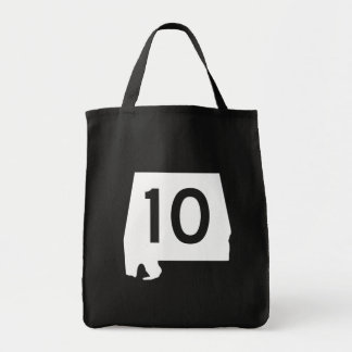 Alabama State Route 10 Tote Bag