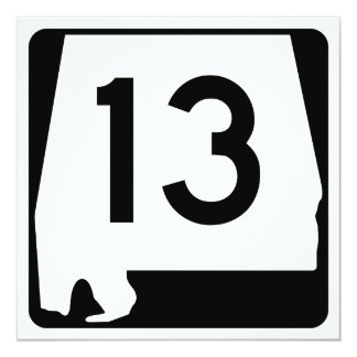 Alabama State Route 13 Card