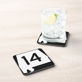 Alabama State Route 14 Beverage Coaster