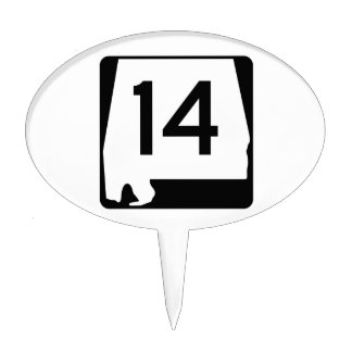 Alabama State Route 14 Cake Topper