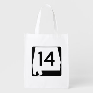 Alabama State Route 14 Reusable Grocery Bag