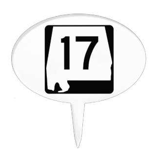 Alabama State Route 17 Cake Topper