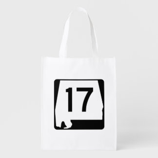 Alabama State Route 17 Reusable Grocery Bag