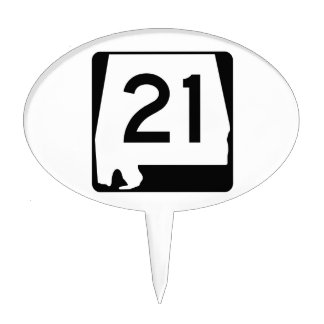Alabama State Route 21 Cake Topper