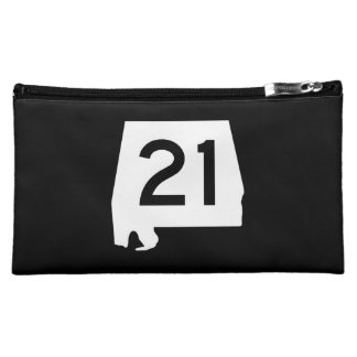 Alabama State Route 21 Cosmetic Bag