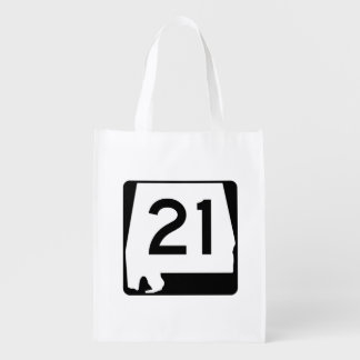 Alabama State Route 21 Grocery Bag