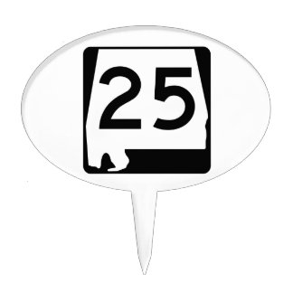 Alabama State Route 25 Cake Topper