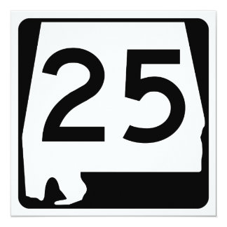Alabama State Route 25 Card
