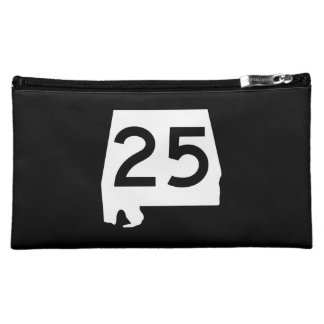 Alabama State Route 25 Cosmetic Bag