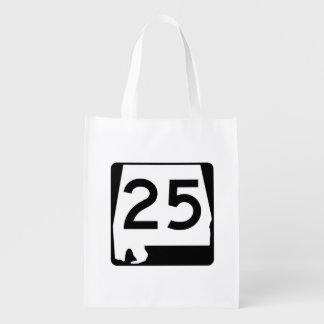 Alabama State Route 25 Reusable Grocery Bag