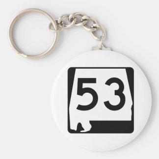 Alabama State Route 53 Keychain